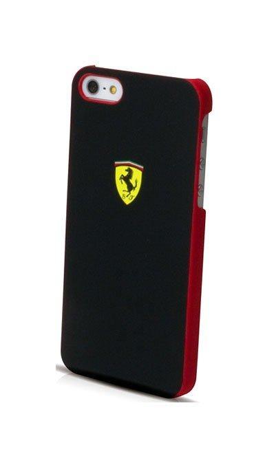 Ferrari Scuderia Metalic Black/Red kryt iPhone 5