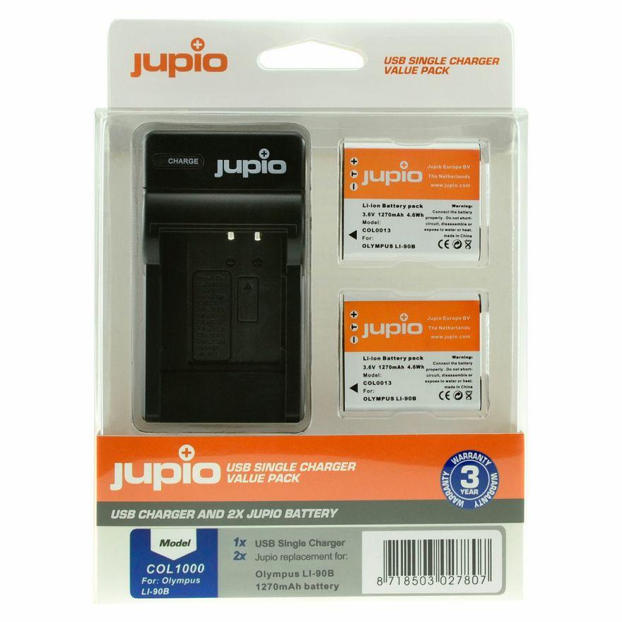 Jupio baterie 2x Li90B/92B 1270 mAh +  nabíječka