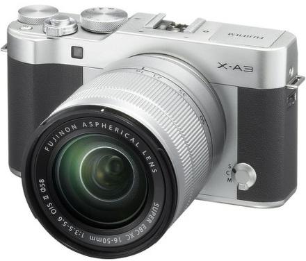FUJIFILM X-A3 + XC16-50mm F3.5-5.6 II silver