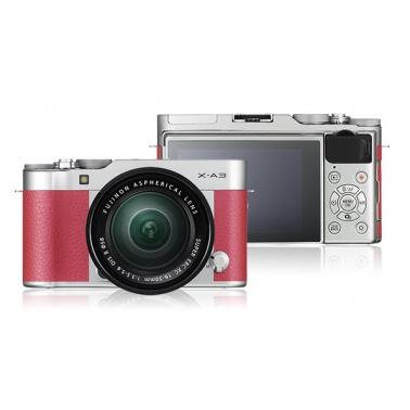 FUJIFILM X-A3 + XC16-50mm F3.5-5.6 II pink