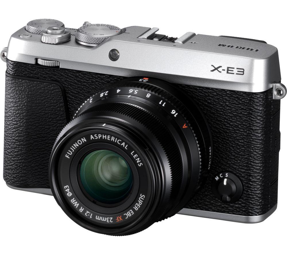 FUJIFILM X-E3 silver + XF23 mm