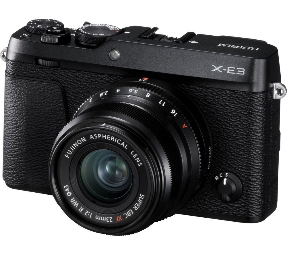 FUJIFILM X-E3 black + XF23 mm