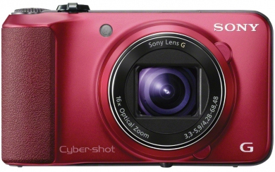 SONY CyberShot DSC - HX10 red