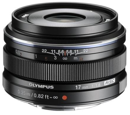 Olympus objektiv 17 mm f1.8 black