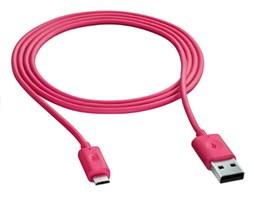 Nokia CA-190CD datový kabel micro USB, Fuchsia
