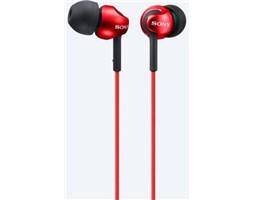 Sony MDR-EX110APR sluchátka s mikrofonem, Red