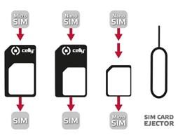 Celly univerzální sada adaptérů na SIM karty