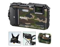 Nikon COOLPIX AW130 camouflage outdoor kit