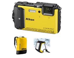 Nikon COOLPIX AW130 yellow diving kit