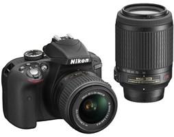 Nikon D3300 Black + AF-P 18-55 VR + 55-200 VRII
