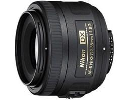 Nikon 35 mm F1.8G NIKKOR AF-S DX + 16GB SDHC Pro