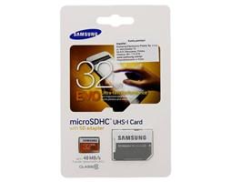 Samsung 32GB SDHC EVO (Class 10) s adaptérem
