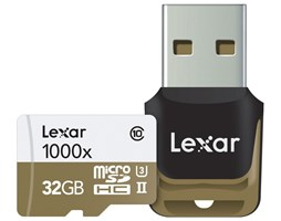 Lexar 32GB microSDHC UHS-II 1000x + USB Class 10